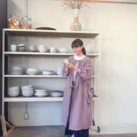 BOUTIQUE X 青山有紀さんコラボ L linen atelier coat(割烹着) TA-AP-02  AZUKI