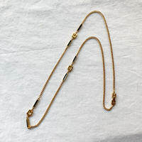 【VINTAGE 】GIVENCHY long necklace GOLD X BLACK