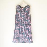 【VINTAGE 】pleats print dress