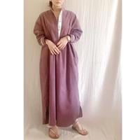 【予約販売】corduroy x metal shirts dress   DUSTY PINK  TE-3604