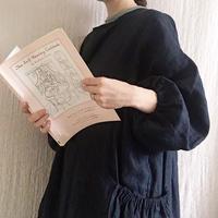 BOUTIQUE X AOYA L  linen atelier coat(割烹着) TA-AP-02bag付き