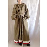 【予約販売】BOUTIQUE linen volume dress  TE-3605 KHAKI
