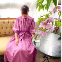 青山有紀さんx BOUTIQUE  negligee dress TA-RW-02 (bag付) PURPLE