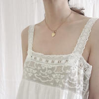 VINTAGE French cottonlace  camisole dress