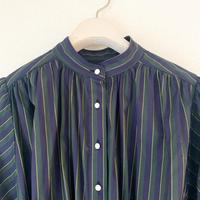 【BOUTIQUE】cotton stripe negIigee dress  / GREEN STRIPE TE-3603