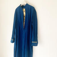 corduroy x metal shirts dress   ROYAL NAVY TE-3604