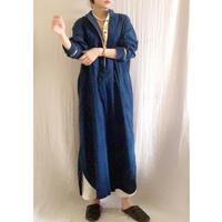 終了しました【予約販売】corduroy x metal shirts dress    TE-3604          ROYAL NAVY