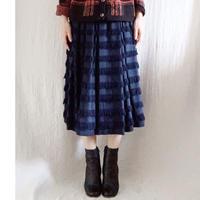 BOUTIQUE fringe skirt  /NAVY