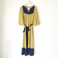 【BOUTIQUE】 silK de chine dress TE-3402/MUSTARD