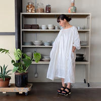 【青山有紀さんX BOUTIQUE 】 linen atelier coat TA-AP-02 WHITE