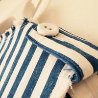 BOUTIQUE cotton linen stripe vest