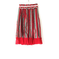 BOUTIQUE fringe stiripe skirt  TC-3200