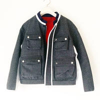 BOUTIQUE  highland wool blouson /GRAY X NAVY