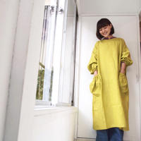 BOUTIQUE X 青山有紀さんコラボ L linen atelier coat(割烹着) TA-AP-02