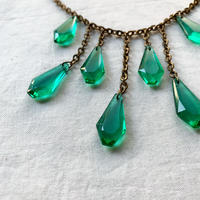 【VINTAGE 】green glass necklace 🇫🇷