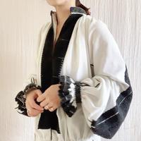 【VINTAGE/ANTIQUE】  cotton   white x black   dress 🇷🇴