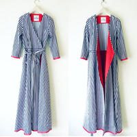 BOUTIQUE stripe cotton dress TE-3401   BLUE STRIPE