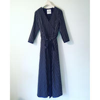 BOUTIQUE stripe cotton dress TE-3401    BLACK X WHITE