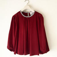 BOUTIQUE silk satin short tops TG-3302/BORDEAUX