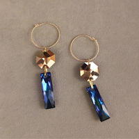 BOUTIQUE  Swarovski TANABATA-STRIP pierce TZ-3404 / BLUEGOLD