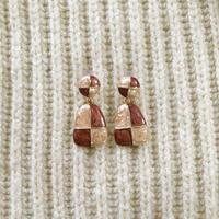 autumn block earring