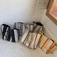 big stripe tote bag