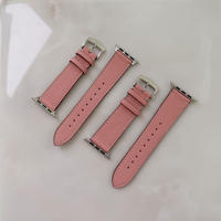French goat leather Apple watch band -Pink-