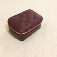 bordeaux real leather zipper multi case