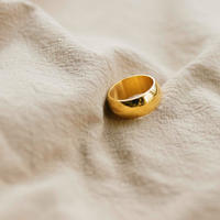 affirmation ring /18k gold plated