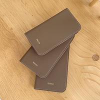 Full grain leather flip iPhone case
