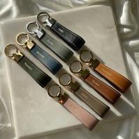 【4月26日発送予定】French calfskin leather key ring