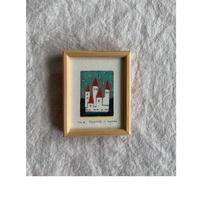 小さな版画絵ayako 「castle」127−16