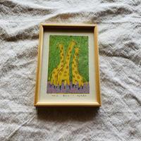 小さな版画絵ayako「キリン」2
