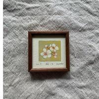 小さな版画絵ayako「桜-2」310-17