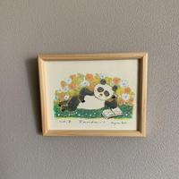 小さな版画絵ayako「 panda-1」61-19