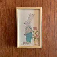 小さな版画絵ayako「Rabbit」no9