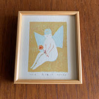 小さな版画絵ayako  「天使-1」  1012-6