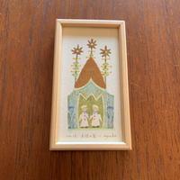 小さな版画絵ayako天使の家   no12     74-12