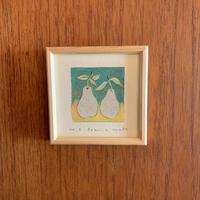 小さな版画絵ayako 「pear」no9