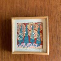 小さな版画絵ayako 「瞬く星」4−9
