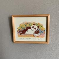 小さな版画絵ayako「 panda-1」61-17