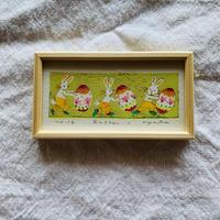 小さな版画絵ayako  「Easter」16