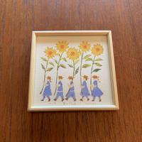 小さな版画絵ayako 夏の行進 no9  74-4