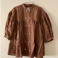めがね  「コックブラウス」5分袖  brown