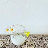 Niimi  glass  studio ちょうちょ花器  丸
