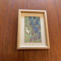 小さな版画絵ayako 白い馬 no5  74-17