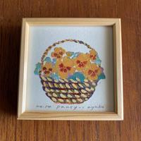 小さな版画絵ayako   「pansy-1」   1012-16