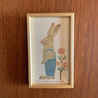 小さな版画絵ayako「Rabbit」no8