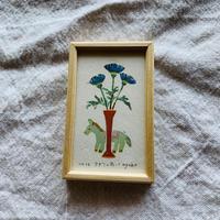 小さな版画絵ayako  「アザミの花」16