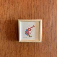 小さな版画絵ayako 「テントウ虫」no3